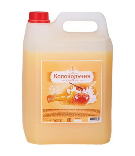 """Душистый Колокольчик жидкое крем-мыло 5л.""""Молоко и Мед"""""""
