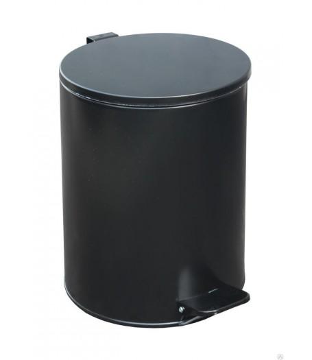 Урна с педалью Титан 15 л (черная)
